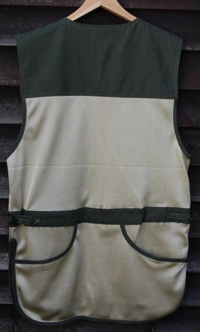 Beige-grön nätväst stl L Vänster