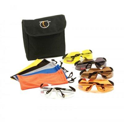Elite Skytteglasögon - Set med 5 bågar / färger